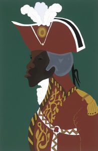 General Toussaint L'Ouverture, by Jacob Lawrence, screenprint 1986