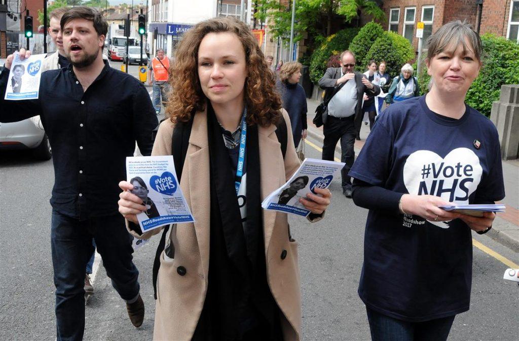 #VoteNHS campaigners in Croydon town centre
