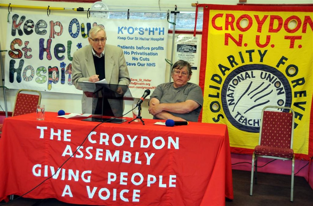 Ted Knight speaking at Croydon Assembly May Day assembly