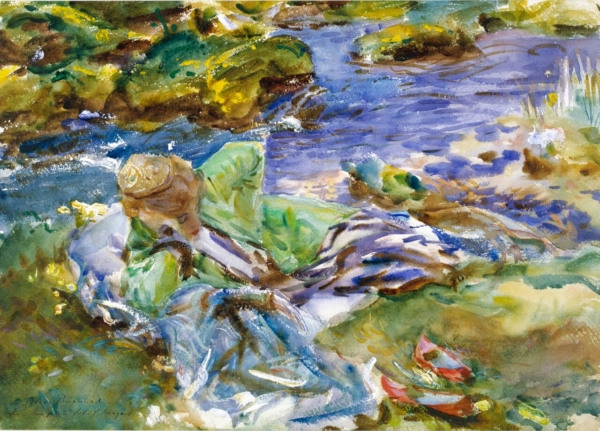 A Turkish Woman by a Stream by John Singer Sargent