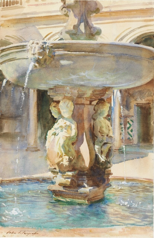 Spanish Fountain by John Singer Sargent