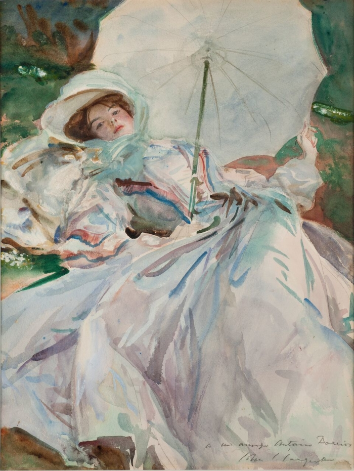 John Singer Sargent. The Lady with the Umbrella