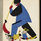 A worker Sweeping Criminals out of the Soviet Land from Russian Placards 1917-22