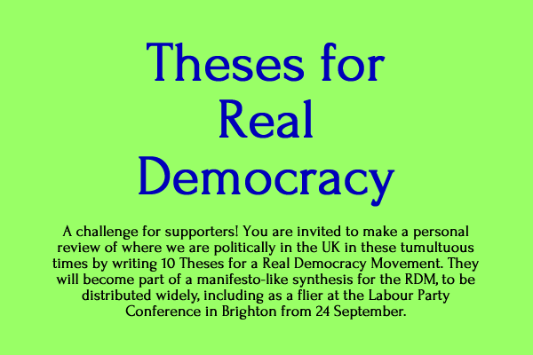 Theses for real democracy