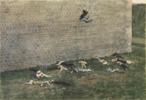 The execution of the Communards by French government Forces at Fortifications in the Bois de Boulogne. 29 May 1871. James Tissot