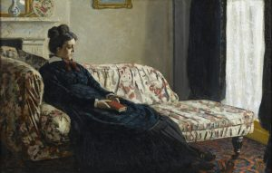 Meditation Mrs Monet Sitting on Sofa, Claude Monet n1871. Musée d'Orsay