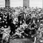 Lenin, Trotsky and Voroshilov (behind Lenin) with Delegates of the 10th Congress of the Russian Communist Party