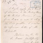 Letter from Vladimir Lenin requesting the use of the Reading Room at the British Museum