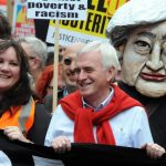 John McDonnell at Tories out demo