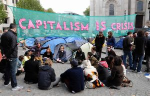 Occupy take over the area outside St Pauls Cathedral and provoke a discussion on the C-word