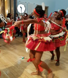 Dancers blessing the exhibition as it opened at the Royal Academy
