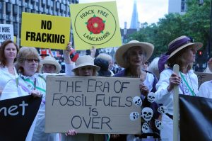 Suffragettes against fracking