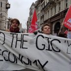 End the gig economy demand precarious workers