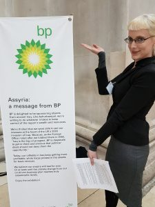 BP or Not BP protester