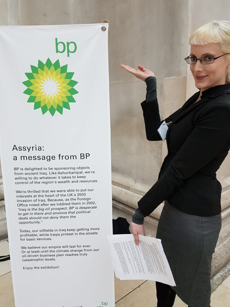 BP targetted by protesters at British Museum