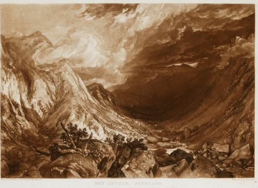 J. M. W. Turner Ben Arthur from 'Liber Studiourm' 1819 Etching and mezzotint on paper © Collection of the Guild of St George / Museums Sheffield