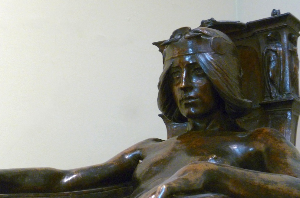 Spirit of Contemplation (detail) by Albert Toft (1901) Laing Art Gallery