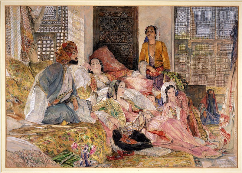 The Hhareem Cairo by J F Lewis, Victoria and Albert Museum